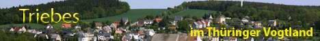 Triebes liegt in landschaftlich reizvoller Gegend, umgeben von 5 Talsperren in Ostthüringen:   - am Nordrand des Thüringer Schiefergebirge - im Thüringer Vogtland im Landkreis Greiz  Höhe: 343,5 m über NN